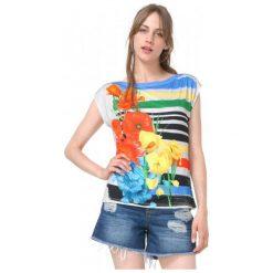 Desigual T-Shirt Damski Sarita M Wielokolorowy. Szare t-shirty damskie Desigual, m. W wyprzedaży za 129,00 zł.