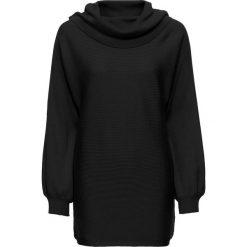 Sweter z szalowym kołnierzem bonprix czarny. Czarne swetry klasyczne damskie bonprix. Za 109,99 zł.
