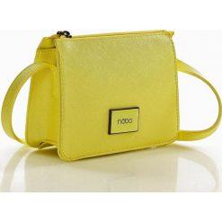 Listonoszki damskie: Niewielka torebka listonoszka żółty