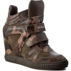 Sneakersy CARINII - B3953  F33-I43-I45-B88. Zielone sneakersy damskie Carinii, z materiału. W wyprzedaży za 309,00 zł.