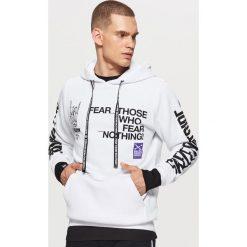 Bluza z kapturem BALTIC GAMES - Biały. Czarne bluzy męskie rozpinane marki Reserved, l, z kapturem. Za 129,99 zł.