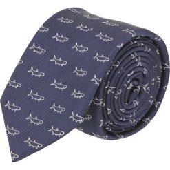 Krawat platinum granatowy classic 252. Niebieskie krawaty męskie Recman. Za 49,00 zł.