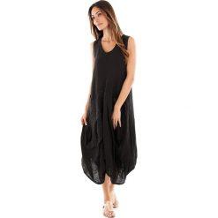 Sukienki balowe: Lniana sukienka w kolorze czarnym