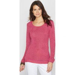 Kardigany damskie: Sweter z fantazyjnej dzianiny