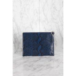 Puzderka: NA-KD Accessories Mała kopertówka Pattern - Blue,Navy
