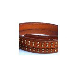 Bransoletka Natural Leather. Brązowe bransoletki damskie na nogę Moderntime, metalowe. Za 49,00 zł.
