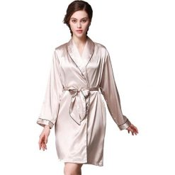 Szlafroki kimona damskie: Szlafrok w kolorze piaskowym
