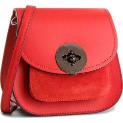 Torebka CREOLE - K10467  Czerwony. Czerwone listonoszki damskie Creole, ze skóry, na ramię. W wyprzedaży za 149,00 zł.