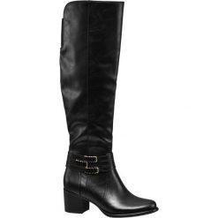 Kozaki damskie Graceland czarne. Czarne buty zimowe damskie Graceland, z gumy, na obcasie. Za 159,90 zł.