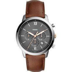 Zegarek FOSSIL - Neutra Chrono FS5408  Brown/Silver. Różowe zegarki męskie marki Fossil, szklane. Za 599,00 zł.