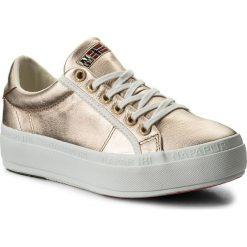Sneakersy NAPAPIJRI - Astrid 16731579 Yellow Ochre N33. Żółte sneakersy damskie marki Napapijri, z materiału. W wyprzedaży za 199,00 zł.