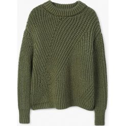Mango - Sweter Roble. Szare swetry klasyczne damskie Mango, l, z dzianiny, z okrągłym kołnierzem. Za 159,90 zł.