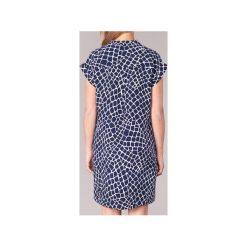 Sukienki krótkie MICHAEL Michael Kors  NYLA CROC LACE UP DRS. Niebieskie sukienki mini marki MICHAEL Michael Kors, m, z krótkim rękawem. Za 1039,20 zł.