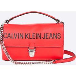 Calvin Klein - Torebka Sculpted Flap. Różowe torebki klasyczne damskie Calvin Klein, w paski, z materiału, średnie. Za 539,90 zł.