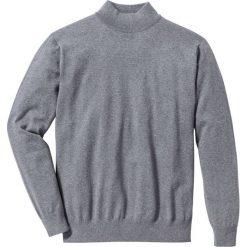 Sweter ze stójką Regular Fit bonprix szary melanż. Szare golfy męskie marki bonprix, l, melanż, z dzianiny. Za 79,99 zł.