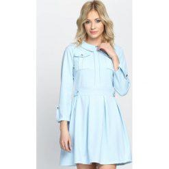 Niebieska Sukienka Restrict. Niebieskie sukienki hiszpanki Born2be, na lato, uniwersalny, mini. Za 79,99 zł.