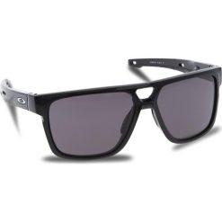 Okulary przeciwsłoneczne OAKLEY - Crossrange Patch OO9382-0160 Polished Black/Warm Grey. Czarne okulary przeciwsłoneczne męskie aviatory Oakley, z tworzywa sztucznego. W wyprzedaży za 509,00 zł.