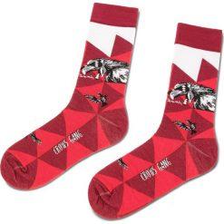 Skarpety Wysokie Unisex CUP OF SOX - Science Fishion Socks B Bordowy Kolorowy. Czerwone skarpetki damskie Cup of sox, w kolorowe wzory, z bawełny. Za 24,00 zł.