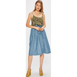 Vero Moda - Top. Niebieskie topy damskie marki Vero Moda, z bawełny. W wyprzedaży za 34,90 zł.