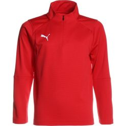 Puma LIGA TRAINING ZIP  Koszulka sportowa red/white. Czerwone bluzki dziewczęce z długim rękawem Puma, z materiału. Za 169,00 zł.