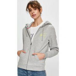 Tommy Jeans - Bluza. Szare bluzy z kapturem damskie Tommy Jeans, l, z bawełny. Za 449,90 zł.
