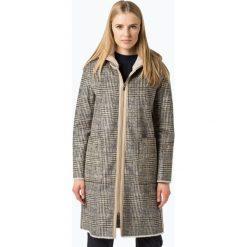 Marie Lund - Damski płaszcz dwustronny – Coordinates, beżowy. Brązowe płaszcze damskie pastelowe Marie Lund, w kratkę. Za 899,95 zł.