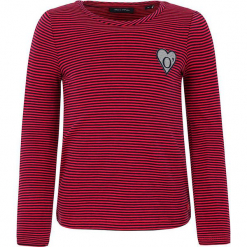 Koszulka w kolorze czerwonym. Białe bluzki dziewczęce bawełniane marki Marc O'Polo Junior, z nadrukiem, z okrągłym kołnierzem, z długim rękawem. W wyprzedaży za 49,95 zł.