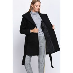 Płaszcze damskie: Czarny Płaszcz Winter Glow