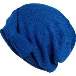 Czapki damskie: Art of Polo Czapka damska smerfetka z kokardą niebieska (cz2506-4)