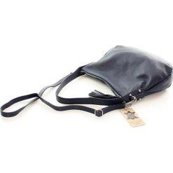 AMANDA - skórzana wygodna torebka Granatowa. Niebieskie torebki klasyczne damskie FURRINI, w paski. Za 249,00 zł.