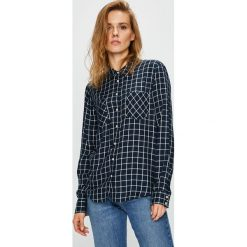 Mustang - Koszula. Szare koszule damskie w kratkę marki Mustang, z tkaniny, casualowe, z klasycznym kołnierzykiem, z długim rękawem. W wyprzedaży za 129,90 zł.