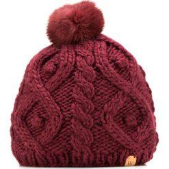 85-HF-009-2 Czapka damska. Czerwone czapki damskie Wittchen, na zimę, z dzianiny. Za 59,00 zł.