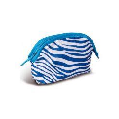Donegal KOSMETYCZKA damska zebra niebieska  4961. Niebieskie kosmetyczki damskie Donegal, z motywem zwierzęcym. Za 8,74 zł.