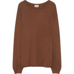 Sweter w kolorze jasnobrązowym. Brązowe swetry oversize damskie American Vintage, s, z bawełny. W wyprzedaży za 99,95 zł.