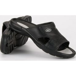 Chodaki męskie: Czarne gumowe klapki MERG czarne