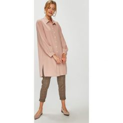 Answear - Koszula. Szare koszule damskie marki ANSWEAR, l, z poliesteru, z długim rękawem, długie. W wyprzedaży za 99,90 zł.