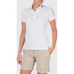 J.LINDEBERG TOUR TECH SLIM Koszulka polo white. Białe topy sportowe damskie J.LINDEBERG, l, z materiału, polo. Za 299,00 zł.