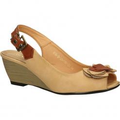 SANDAŁY VINCEZA R14-D-SD-196. Brązowe sandały damskie marki Vinceza. Za 49,99 zł.