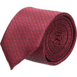 Krawat platinum bordo classic 200. Czerwone krawaty męskie Recman, w geometryczne wzory, z tkaniny, eleganckie. Za 49,00 zł.