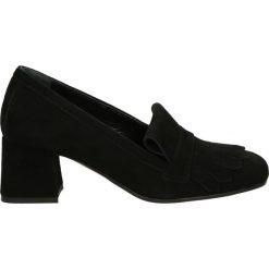 Czółenka - 406 CAM NERO. Czarne buty ślubne damskie Venezia, ze skóry. Za 249,00 zł.