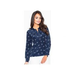 Koszule wiązane damskie: Koszula M254 Granat