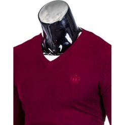 Swetry męskie: SWETER MĘSKI E74 – BORDOWY
