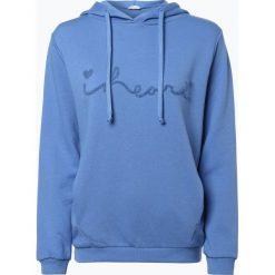 Bluzy damskie: iheart – Damska bluza nierozpinana – Finna, niebieski