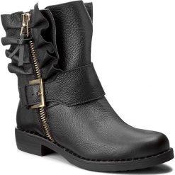 Botki R.POLAŃSKI - 0879 Czarny Lico. Czarne buty zimowe damskie marki R.Polański, ze skóry, na obcasie. W wyprzedaży za 299,00 zł.