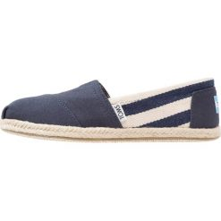 Espadryle damskie: TOMS STRIPE UNIVERSITY  Espadryle navy university