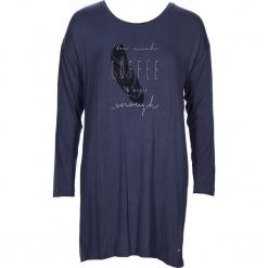 """Koszula nocna """"Cozy World"""" w kolorze zgranatowym. Białe koszule nocne i halki marki LASCANA, w koronkowe wzory, z koronki. W wyprzedaży za 68,95 zł."""