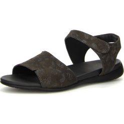 """Rzymianki damskie: Skórzane sandały """"Jaeh"""" w kolorze ciemnoszarym"""