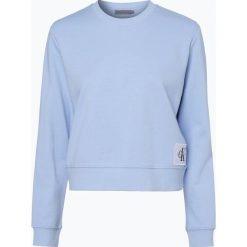 Bluzy damskie: Calvin Klein Jeans - Damska bluza nierozpinana, niebieski
