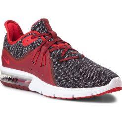 Buty NIKE - Air Max Sequent 3 921694 015 Black/University Red/White. Czerwone buty do biegania męskie Nike, z materiału, nike air max. W wyprzedaży za 329,00 zł.