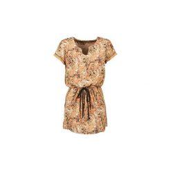 Sukienki krótkie See U Soon  ANNASBA. Niebieskie sukienki mini marki See u Soon, s, z krótkim rękawem. Za 244,30 zł.